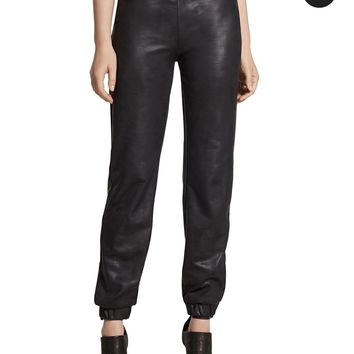 Chico's Faux-Leather Jogger Pants