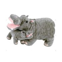 Fiesta Toys Mama with Baby Hippo Stuffed Animal - Walmart.com