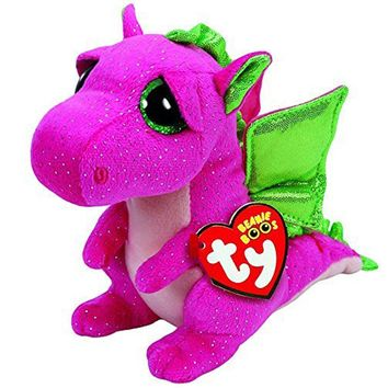 "Pyoopeo Ty Beanie Boos 6"" 15cm Darla the Pink Dragon Plush Regular Soft Stuffed Animal Collectible Doll Toy with Heart Tag"