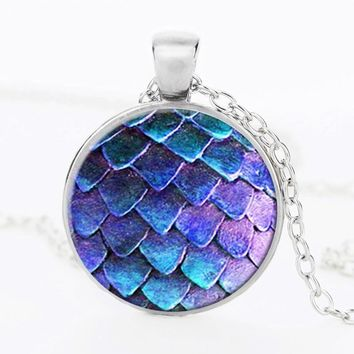 SUTEYI Hot Selling Dragon Egg Necklace Game Glass Dome Picture Pendant Game Of Thrones Dragon Egg Necklaces Jewelry For Men