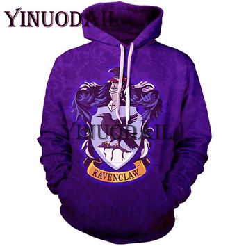 YINUODAIL Harri Potter 3D Printed Hoodie with Pocket Harry Potter Hogwarts Alumni 2 Hoodies