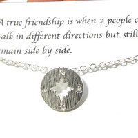 Best Friend Gift Compass Necklace/A1/Friendship gift/Compass necklace/best friend necklace/best friend gift/gift for friend/birthday gift