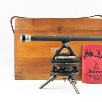 Vintage 1939 Starrett Transit No. 99F with Ground level Vial, Surveyors Transit, Surveyors Scope