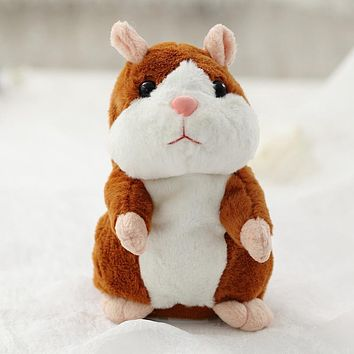 15cm Talking Hamster Plush Toys Sound Record Electric Plush Hamster Toys Children Kids Birthday Gift