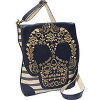 Loungefly Nautical Skull Striped Cross Body Bag - eBags.com