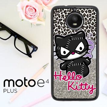 Hello Kitty Catwoman W3152 Motorola Moto E4 Plus Case