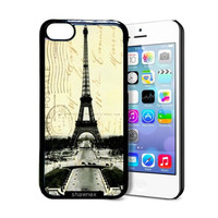 Shawnex Paris Eiffel Tower Collage iPhone 5C Case - Thin Shell Plastic Protective Case iPhone 5C Case