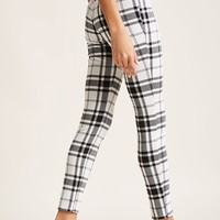 High-Waist Plaid Leggings