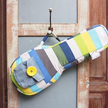 Sea Stripe  Colorful Ukulele Bag Soprano Size Custom by cherijame