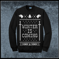 Winter Is Coming Game Of Thrones Ugly Christmas Sweater Jumper - Pick Your Size S - 3XL!!! **Priority Shipping**