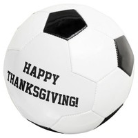 Happy Thanksgiving! Soccer Ball Black and White
