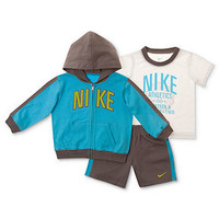 Nike Baby Set, Baby Boy 3-Piece Tee, Jacket, and Shorts - Kids Baby Boy (0-24 months) - Macy's