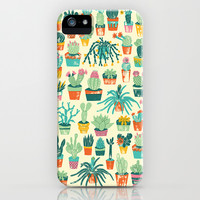 Cactus Pattern Fabric Print iPhone & iPod Case