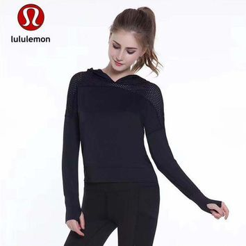 Lululemon Women Fashion Gym Yoga Sport Hoodie Top Pullover