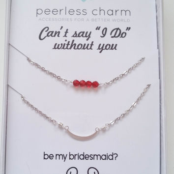 Customize Your Bridesmaid Proposal Necklace