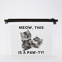 Paw-Ty Cat Graphic Pouch