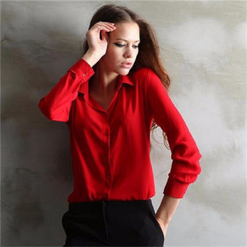 Elegant Ladies Formal Office Blouse