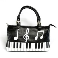 Piano Handbag - Black