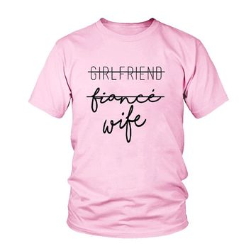 Girlfriend Fiance Wife T-Shirt Future Mrs Tumblr Tee Engagement Gift Fiance Shirt Bachelorette Party Tops Trendy Cotton tshirts