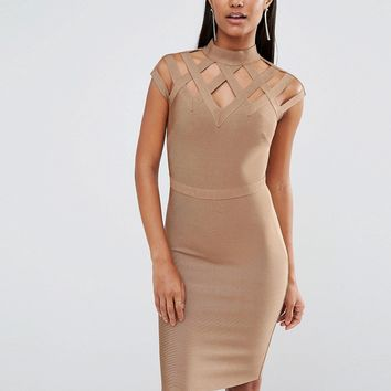 WOW Couture High Neck Bandage Dress
