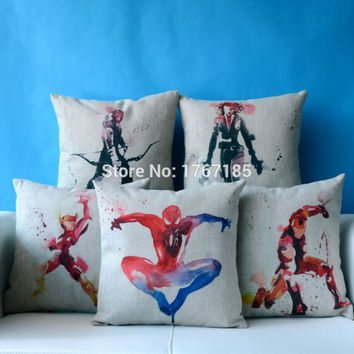 Marvel Movie Avengers Super Hero Pillowcase housse de coussinCushion Decorative Pillow  Home Decor Throw Pillow  Cushion 45*45