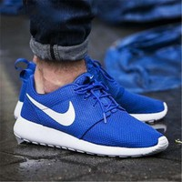 NIKE Roshe One Fashion And Classic Shoes Women Men Casual Sport Shoes Sneakers Blue B