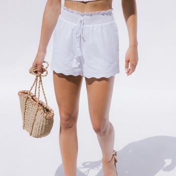 LA Hearts Embroidered Tassel Shorts at PacSun.com