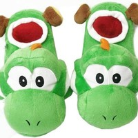 Super Mario Brothers : Yoshi Slippers (Green)