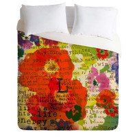 Irena Orlov Poppy Poetry 3 Duvet Cover
