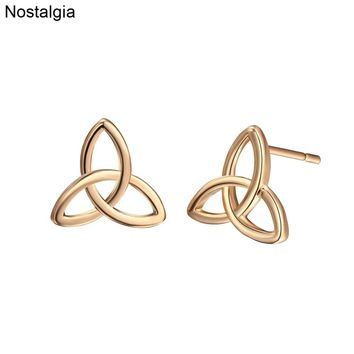 Nostalgia Irish Knot Trinity Symbol Studs Small Gold Womens Earrings Stud In Jewelry Men Earing