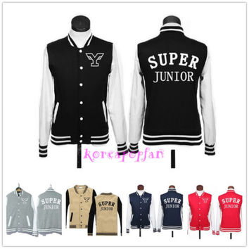 SUPERJUNIOR SUPER JUNIOR SJ THICK COTTON JACKET HOODIE KPOP NEW