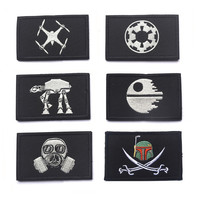 Star Wars Patch 3D Embroidery Tactical Patch Military Cloth Armband Patches Army Badge Black Color