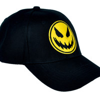 Evil Scary Pumpkin Head Hat Baseball Cap Occult Clothing
