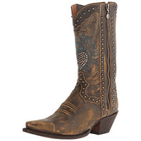 Dan Post Womens Heart Breaker Leather Embroidered Cowboy, Western Boots