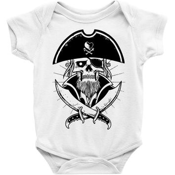 skull with beard Baby Onesuit