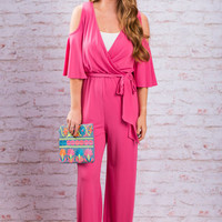 Fashion Peak Jumpsuit, Hot Pink