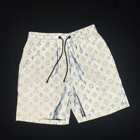 LV tide brand luminous 3M reflective versatile fashion casual shorts