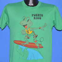 80s Puerto Rico Surfing Frog t-shirt Small