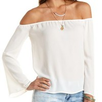 Bell Sleeve Off-the-Shoulder Top by Charlotte Russe