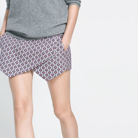 JACQUARD SKORT - Skirts - Woman | ZARA United States