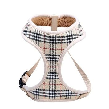 Classic Plaid Print Dog Harness