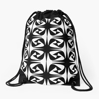 'Dark and Light' Drawstring Bag by Susan Evans