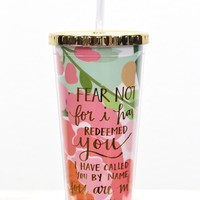 Fear Not 24 oz Tumbler w/ Gold Lid {Pink Mix}