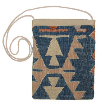 Winford Red/Blue Striped Pattern Kilim Bag