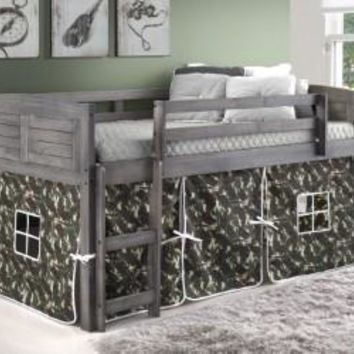 Jordan Gray Twin Loft with Camo Tent