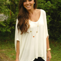 Page 6 Boutique - Like Totally Top - White