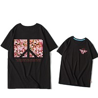 """""""Pink Panther""""Hot letters print T-shirt top black"""