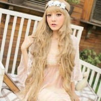 X&Y ANGEL New Godiva Super Long Lolita Full Natural Wavy Kanekalon Heat Resistant Hair Wig Blonde Wigs K056