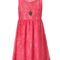 Beautees Girls Dress, Girls Lace Dress - Kids Girls 7-16 - Macy's