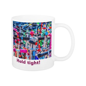 Scooter paradise - Hold tight! Coffee Mug